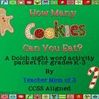 How Many Christmas Cookies Can You Eat? { Dolch Sight Word
