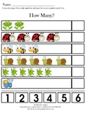 How Much?  - Concepts of Numbers - Counting with cut/paste
