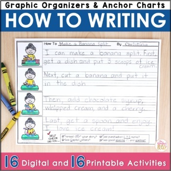 How-To (Procedural) Writing Organizers and Published Writi