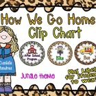 How We Go Home Dismissal Clip Chart & Student Labels {Jung
