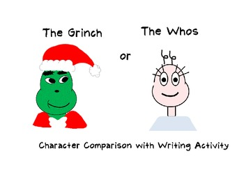 How the Grinch Stole Christmas Character Comparison with Writing Activity