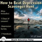 """""""How to Beat Stress and Depression"""" Scavenger Hunt for Teens"""
