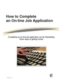 How to Complete an Online Job Application