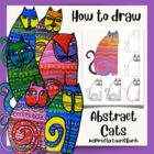 How to Draw an Abstract Cat in the Style of Laurel Birch