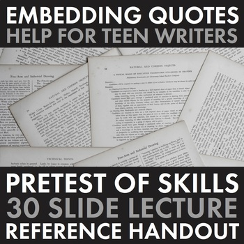 How to Embed Quotes, Quotations Writing Activity & Lecture, Dynamic Materials