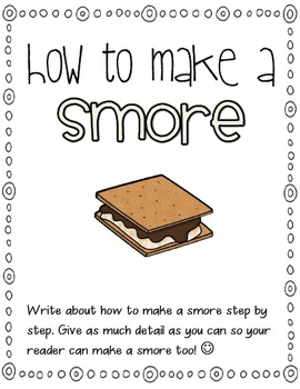 How to Make a Smore Writing Activity