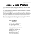 How to Write a Free Verse Poem (lesson bundle)