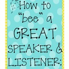 "How to ""bee"" a great speaker and listener! {Kid Friendly C"