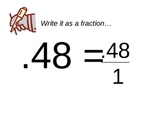 How to convert a decimal to a fraction