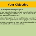 How to present a written report PPt