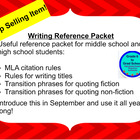 How to quote using MLA reference sheet