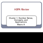 HSPA Review PowerPoint for Cluster 1A