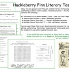 Huckleberry Finn Test Pack  Mark Twain