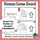 Human Game Board Class Activity Floor or Wall Squares in Red