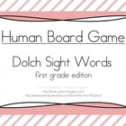 Human Game Board - Dolch Sight Words - First Grade