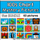 Hundreds (100s) Chart Fun Mystery Picture Activities - Meg