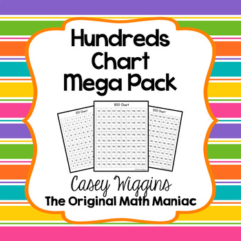 Hundreds Chart Mega Pack