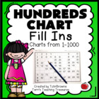 Hundreds Charts - Fill In Worksheets