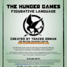 """Hunger Games"" Figurative Language Lesson Activity Worksheet"