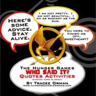 """Hunger Games"" Quotes: Activities & Trivia Game"