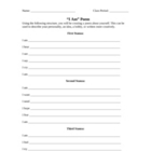 I Am Poem Worksheet