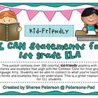 I CAN Statements for 1st Grade ELA {Kid-Friendly}