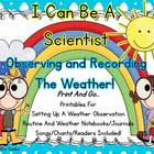 I Can Be A Scientist Observing And Recording Weather!