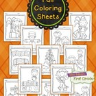 I Can Color {Fall Fun} Coloring Pages