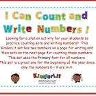 I Can Count and Write Numbers! 0 - 9  (Primary Font)