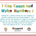 I Can Count and Write Numbers! 10 - 20  (Primary Font)