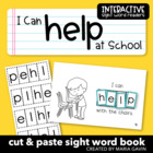 "Interactive Sight Word Reader ""I Can Help at School"""