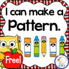 I Can Make Patterns Freebie