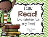 I Can Read {CVC Activities For Any Time}