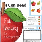 I Can Read Fall Reading for Kindergarten {vocab cards & se