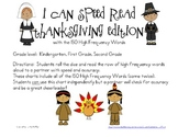 I Can Speed Read {Thanksgiving Edition}
