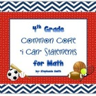 I Can Statements- 4th Grade Math Common Core Standards- Sp