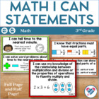 I Can Statements for 3rd Grade! ALL Math Standards! CCSS!!