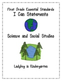 I Can Statements for Essential Standards First Grade