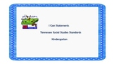 I Can Statements for Tennessee Kindergarten Social Studies
