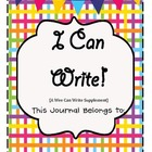 I Can Write Journal (a supplement to Wee Can Write)