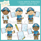 I Can Write Pirates Clip Art