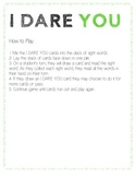 I Dare You - Sight Words Game