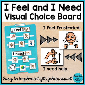Behavior Management: I Feel and I Need Visual File Folder {Autism & Special Ed}