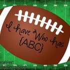 I Have Who Has ABC cards {Football Themed}