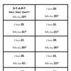 I Have, Who Has? Activity--Numbers, Ten/Ones, More/Less (1