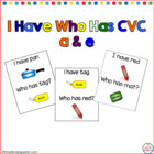 I Have Who Has CVC A & E