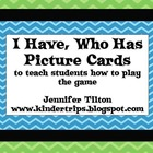 I Have, Who Has Game Cards-Teach the Game with Pictures