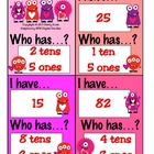 I Have Who Has Game - Love Monster Tens and Ones