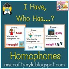 I Have - Who Has - Homophones - Deluxe Set