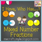 I Have - Who Has - Mixed Number Fractions